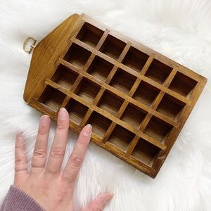 Vintage Wood Wall Shelf Decor / Trinket Holder